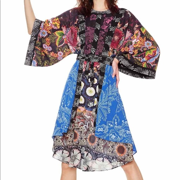 the cheapest wholesale outlet outlet store sale 🆕 Desigual kimono Macarena dress Size 42 NWT